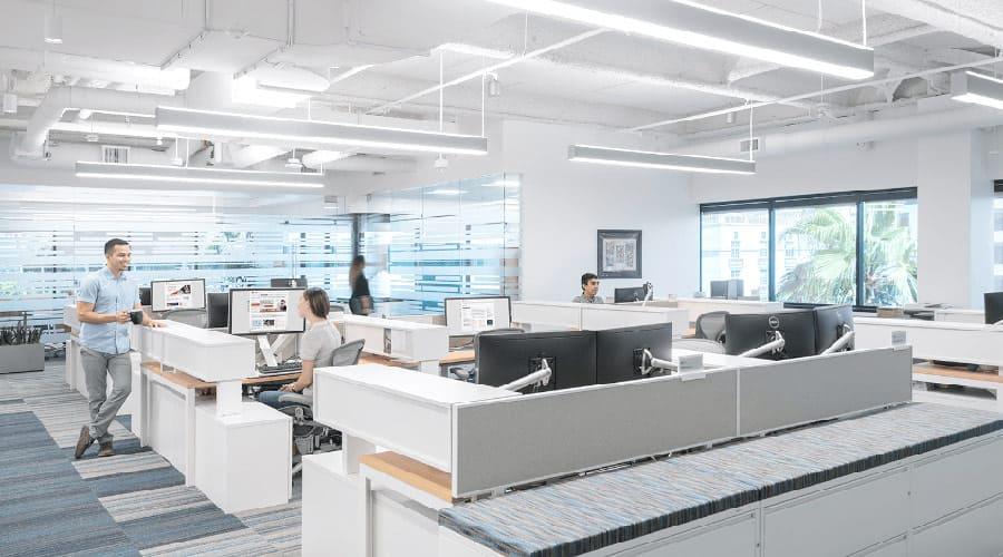 Офис с вентиляцией